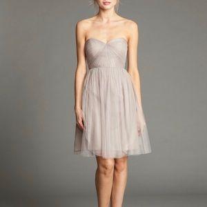 Jenny Yoo Keira gray strapless dress